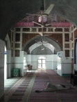 Despite its age & state, Dai Anga's mosque still offers relief from the fiery weather for the faithful